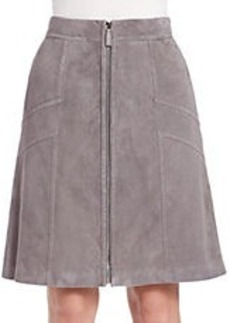 LAFAYETTE 148 NEW YORK Suede Rock Turner Skirt