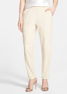 Lafayette 148 New York Suede Track Pants with Piping