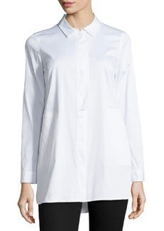 Lafayette 148 New York Suzette Long-Sleeve Blouse, White