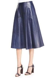 Lafayette 148 New York Suzie Lambskin Skirt