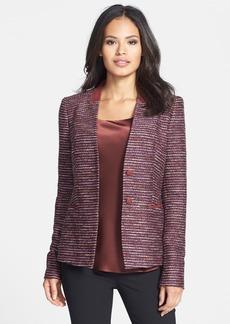 Lafayette 148 New York 'Sydney - Sherry Tweed' Jacket (Petite)