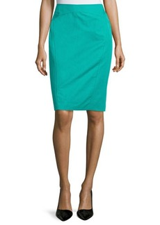 Lafayette 148 New York Sylvana Contrast-Seam Pencil Skirt