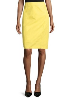 Lafayette 148 New York Sylvana Contrast-Seam Pencil Skirt