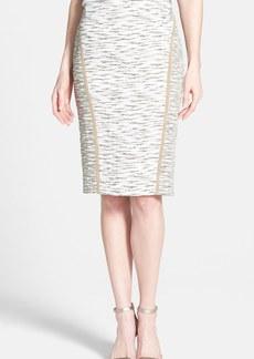 Lafayette 148 New York 'Sylvana' Faux Suede Trim Pencil Skirt