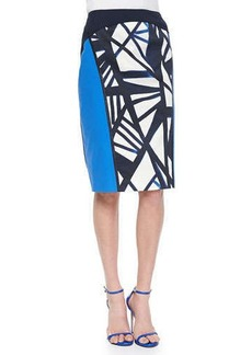 Lafayette 148 New York Sylvana Printed Pencil Skirt