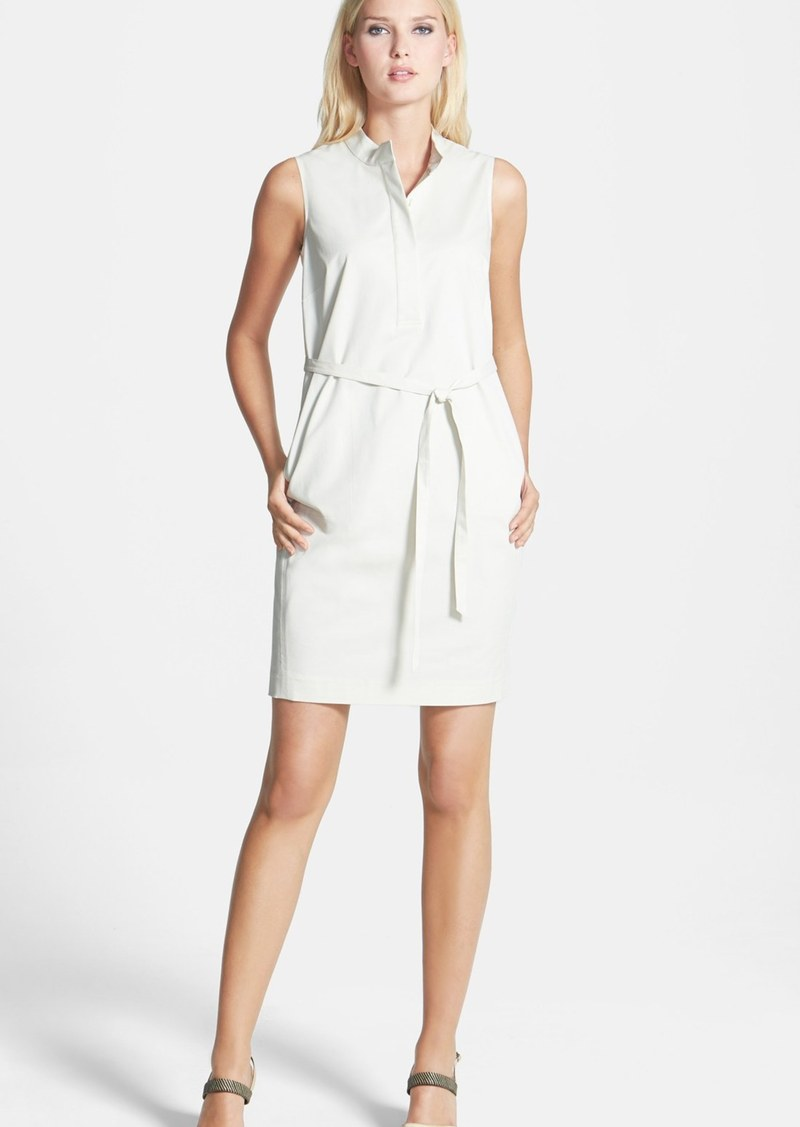 Lafayette 148 New York Tab Collar Sleeveless Shirtdress