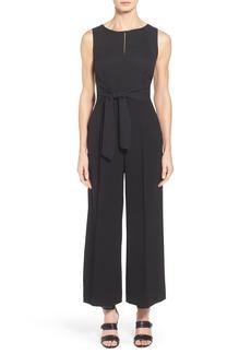 Lafayette 148 New York 'Takara' Sleek Techno Cloth Jumpsuit (Regular & Petite)