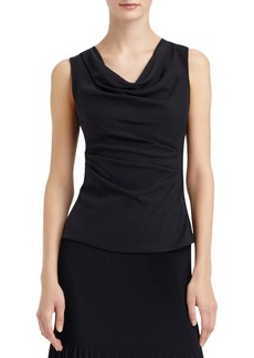 Lafayette 148 New York 'Tamryn' Sleeveless Mixed Media Drape Front Blouse