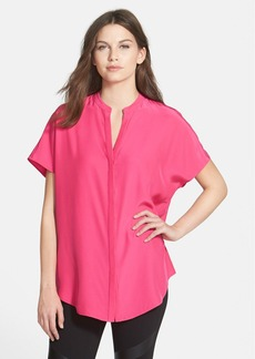 Lafayette 148 New York 'Tamsin' Matte Silk Blouse
