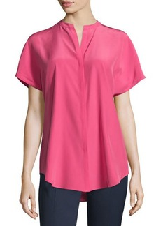 Lafayette 148 New York Tamsin Short-Sleeve Blouse