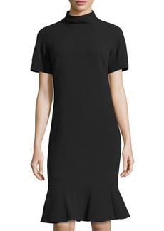 Lafayette 148 New York Tanya Mock-Neck Wool Dress
