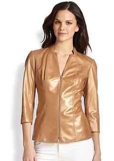 Lafayette 148 New York Tara Leather Jacket