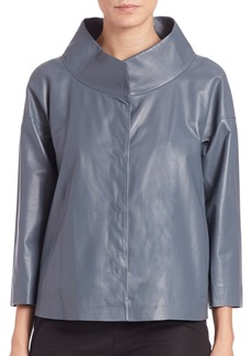 Lafayette 148 New York Tasha Leather Jacket