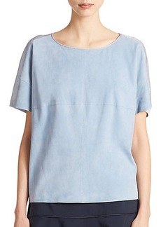 Lafayette 148 New York Tate Mixed-Media Blouse
