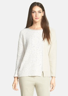 Lafayette 148 New York Textured Cotton Blend Sweater