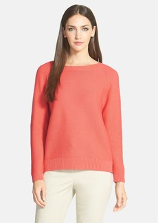 Lafayette 148 New York Textured Cotton Sweater