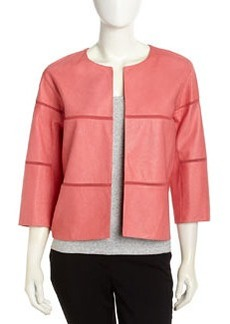 Lafayette 148 New York Textured Lambskin Jacket, Coral