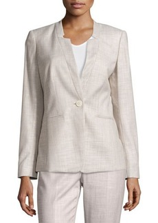 Lafayette 148 New York Textured One-Button Jacket