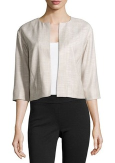Lafayette 148 New York Textured Open-Front Jacket