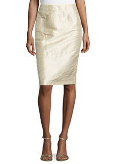 Lafayette 148 New York Textured Pencil Skirt, Parchment