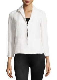 Lafayette 148 New York Textured Piped Jacket, White