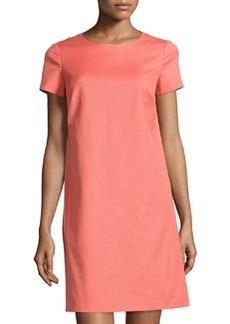 Lafayette 148 New York Textured Shift Dress, Grapefruit