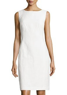 Lafayette 148 New York Textured Sleeveless Dress, White