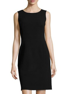 Lafayette 148 New York Textured Sleeveless Sheath Dress