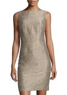 Lafayette 148 New York Textured Sleeveless Sheath Dress