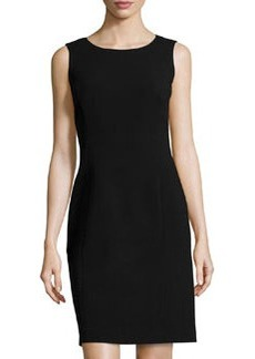 Lafayette 148 New York Textured Sleeveless Sheath Dress, Black