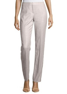 Lafayette 148 New York Textured Straight-Leg Pants
