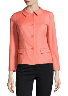 Lafayette 148 New York Textured Three-Button Jacket, Grapefruit