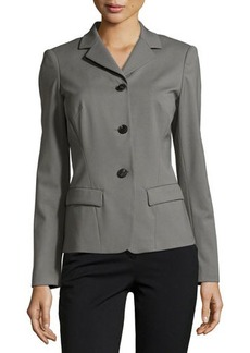 Lafayette 148 New York Three-Button Long-Sleeve Jacket