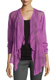 Lafayette 148 New York Three-Quarter Sleeve Cascade Cardigan, Blossom