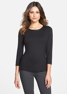 Lafayette 148 New York Three Quarter Sleeve Jersey Top