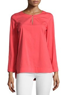 Lafayette 148 New York Three-Quarter Sleeve Tunic Blouse, Geranium