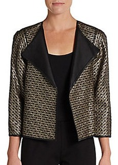 Lafayette 148 New York Tiana Leather-Accented Jacket