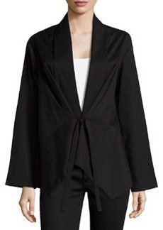 Lafayette 148 New York Tie-Front Shirt Jacket, Black