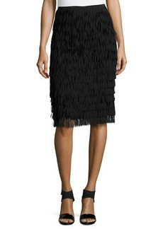 Lafayette 148 New York Tiered Fringe Skirt