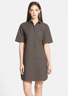 Lafayette 148 New York Tiered Hem Shirtdress