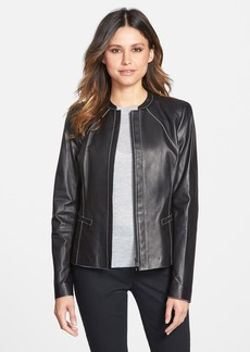 Lafayette 148 New York Tissue Weight Lambskin Leather Jacket (Regular & Petite)