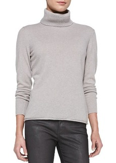 Lafayette 148 New York Turtleneck Sweater with Drop Needle Hem