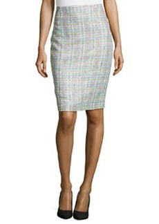 Lafayette 148 New York Tweed Pencil Skirt, Starfruit