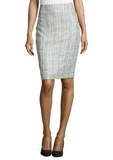 Lafayette 148 New York Tweed Pencil Skirt, Starfruit