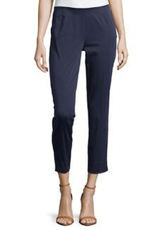 Lafayette 148 New York Twill Cropped Pants, Navy