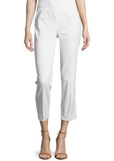 Lafayette 148 New York Twill Cropped Pants, White
