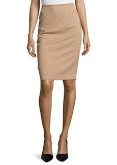 Lafayette 148 New York Twill Pencil Skirt, Cammello Melange