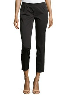 Lafayette 148 New York Twill Straight-Leg Pants, Black