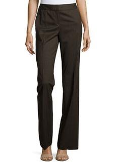 Lafayette 148 New York Twill Wide-Leg Pants, Coffee Melange