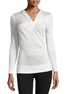Lafayette 148 New York Twist-Knot Long-Sleeve Sweater